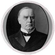President William Mckinley  Round Beach Towel