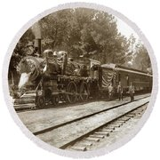 President William Mckinleys Presidential Locomotive No. 1456  May 1901 Round Beach Towel