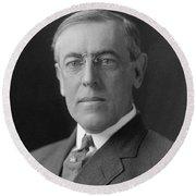 President Woodrow Wilson Round Beach Towel