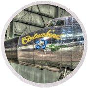 Presidential Aircraft - Lockheed Vc-121e Columbine Round Beach Towel