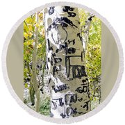Presidential Tree Round Beach Towel