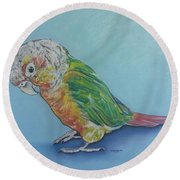 Pretty Bird Round Beach Towel