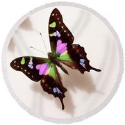 Pretty Butterfly Round Beach Towel