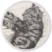 Pretty Collie Beastie Round Beach Towel