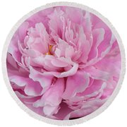 Pretty In Pink Peony Round Beach Towel