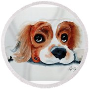 Pretty Please? Round Beach Towel