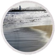 Pretty Sand Round Beach Towel