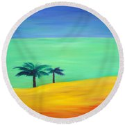 Pretty Simple Round Beach Towel