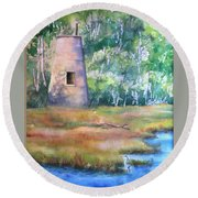 Price's Creek Light Round Beach Towel