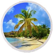 Prickly Bay Round Beach Towel