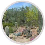 Prickly Pearadise Round Beach Towel