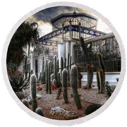 Pricklyscape Round Beach Towel