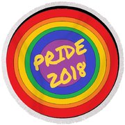 Pride Circles Round Beach Towel