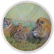Pride Family  Round Beach Towel