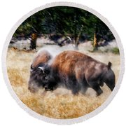 Primal Round Beach Towel