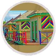 Primary Colors Round Beach Towel