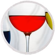 Primary Colors In Glass Round Beach Towel