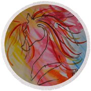 Primary Horse Round Beach Towel