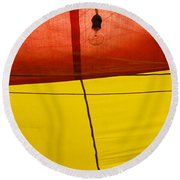 Primary Light Round Beach Towel