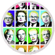 'prime Ministers Question Time X 16' Round Beach Towel