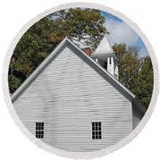 Primitive Baptist Church Est 1827 Round Beach Towel