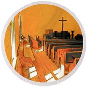 Primitive Church - Sunday Morning Round Beach Towel