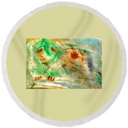 Primitive Spirt Round Beach Towel
