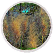 Primordial Plain Round Beach Towel