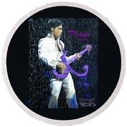 Prince 1958 - 2016 Round Beach Towel