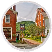 Prince And The Pauper Restaurant In Woodstock-vermont  Round Beach Towel