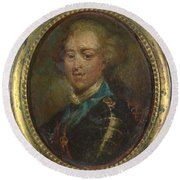 Prince Charles Edward Stuart The Young Pretender Round Beach Towel