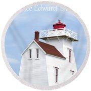 Prince Edward Island Lighthouse Poster Round Beach Towel