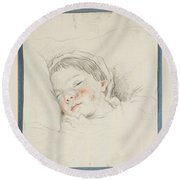 Prince Hoare The Baby Round Beach Towel