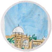 Prince Of Wales Museum Mumbai Round Beach Towel