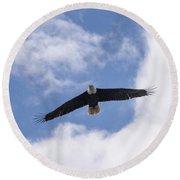 Prince Rupert Eagle Flight Round Beach Towel