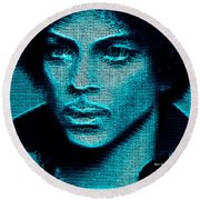 Prince - Tribute In Blue Round Beach Towel