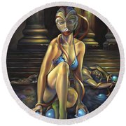 Princess Dejah Thoris Of Helium Round Beach Towel