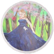 Princess In The Forest Round Beach Towel