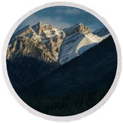 Princess Margaret Mountain Canmore Alberta Canada Round Beach Towel