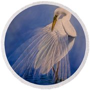Princess Of The Mist Round Beach Towel