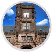 Princeton University East Pyne Hall  Round Beach Towel