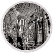 Princeton University Foulke And Henry Halls Archway Round Beach Towel