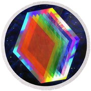 Prismatic Dimensions Round Beach Towel