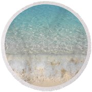 Pristine Beach At Half Moon Cay Round Beach Towel