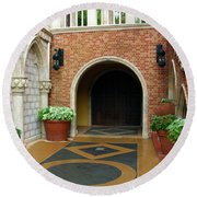 Private Entrance Round Beach Towel