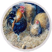 Prized Rooster Round Beach Towel