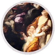 Procaccini's The Ecstasy Of The Magdalen Round Beach Towel