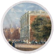 procession with Queen Victoria Round Beach Towel