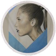 Profile Round Beach Towel