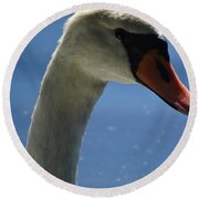 Profile Of A Swan Round Beach Towel